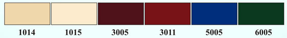 Цветовая схема RAL